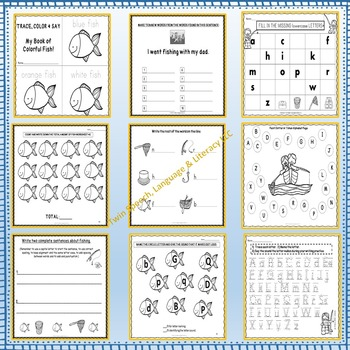 Quick Print Fishing-themed Language & Literacy Unit for Pre-K to 3rd Grade