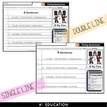 Sentence Writing Sentence Detective Game