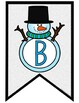 Snowman Alphabet and Numbers Bunting Banner Bulletin Kit
