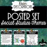 Social Studies Themse Posters--set of 31