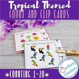 Tropical Counting Interactive Task Cards Center