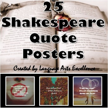 William Shakespeare Quote Posters