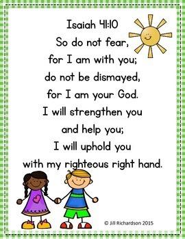 Bible Verse Memory Book and Poster!  Isaiah 41:10