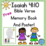 Bible Verse Memory Book and Poster!  Isaiah 41:10