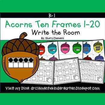 Acorns Write the Room (Ten Frames 1-20)