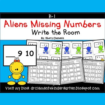 Aliens Write the Room (Missing Numbers 0-10)