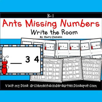 Ants Write the Room (Missing Numbers 0-10)