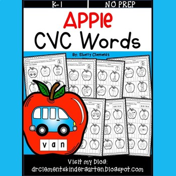 Apple CVC Write the Words