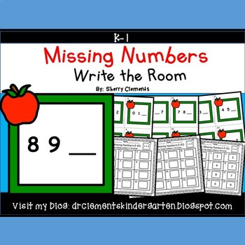 Apple Frame Write the Room (Missing Numbers 0-10)
