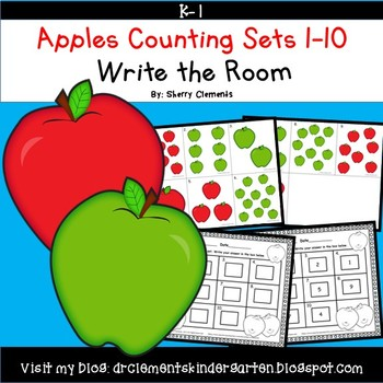 Apples Write the Room (Counting Sets 1-10)