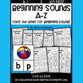 Beginning Sounds A-Z (Color the Letters for Beginning Sounds)