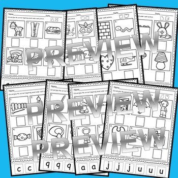 Beginning Sounds A-Z (Cut and Paste)
