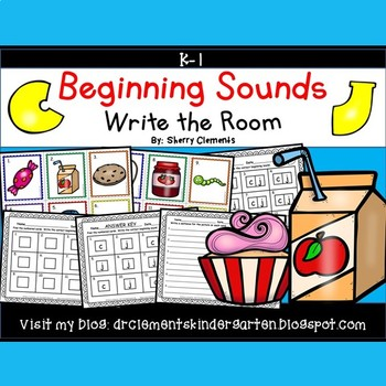 Beginning Sounds (C and J) Write the Room