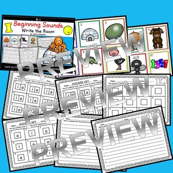 Beginning Sounds (I and O) Write the Room