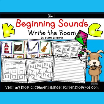 Beginning Sounds (K and G) Write the Room