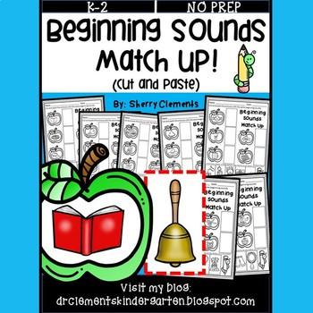 Beginning Sounds Match Up (Phonemic Awareness) (Cut and Paste)
