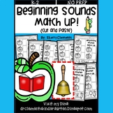 Beginning Sounds Match Up (Phonemic Awareness) (Cut and Paste)