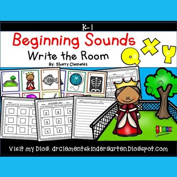 Beginning Sounds (Q, X and Y) Write the Room