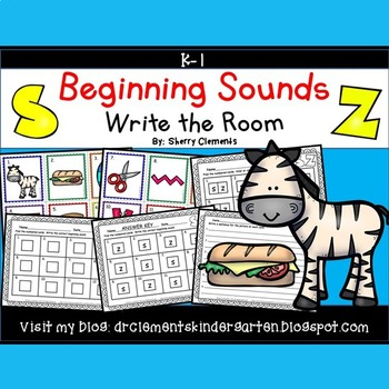 Beginning Sounds (S and Z) Write the Room
