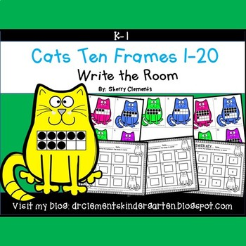 Cats Write the Room (Ten Frames 1-20)