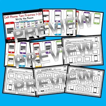 Cell Phones Write the Room (Ten Frames 1-20)