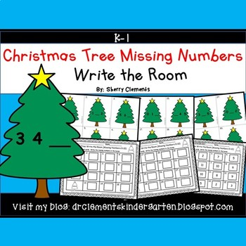 Christmas Tree Write the Room (Missing Numbers 0-10) (Set 2)