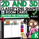 Classifying 2D and 3D Shapes using BOOM CARDS   K.G.A.2