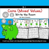 Coins Write the Room (Mixed Values)