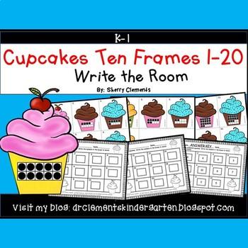 Cupcakes Write the Room (Ten Frames 1-20)