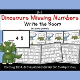 Dinosaurs Write the Room (Missing Numbers 0-10)