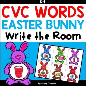 Easter Bunny Write the Room (CVC Words)