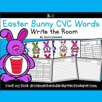 Easter Bunny Write the Room (CVC Words)