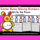 Easter Bunny Write the Room (Missing Numbers 0-10)