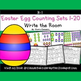 Easter Eggs Write the Room (Counting Sets 1-20)