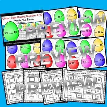 Easter Eggs Write the Room (Missing Numbers 11-20)