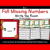 Fall Write the Room (Missing Numbers 0-10)