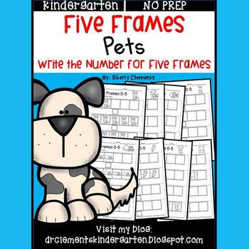 Pets Five Frames by Sherry Clements | Teachers Pay Teachers