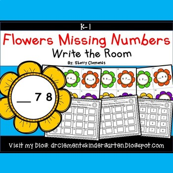 Flowers Write the Room (Missing Numbers 0-10)