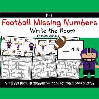 Football Write the Room (Missing Numbers 0-10)