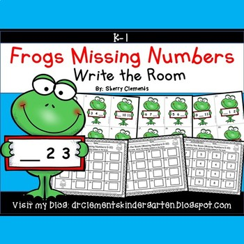 Frogs Write the Room (Missing Numbers 0-10) (Set 2)