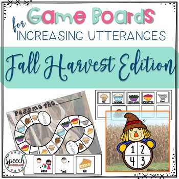 Game Boards for Increasing Utterances - Fall Harvest Edition