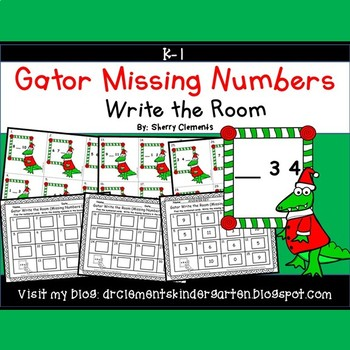 Gator Write the Room (Missing Numbers 0-10)