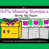 Gifts Write the Room (Missing Numbers 0-10)