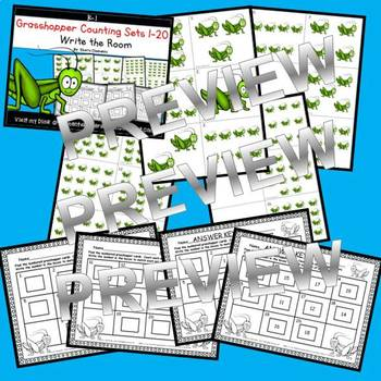 Grasshopper Write the Room (Counting Sets 1-20)