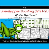 Grasshopper Write the Room Bugs (Counting Sets 1-20)