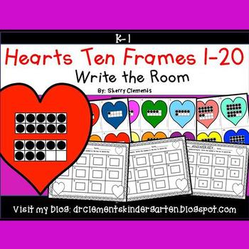 Hearts Write the Room (Ten Frames 1-20)
