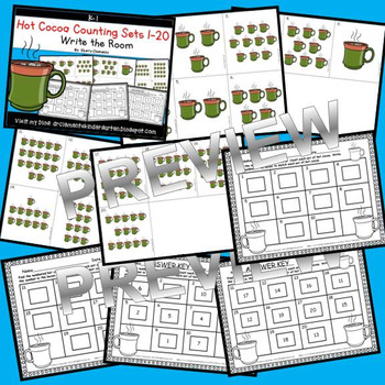 Hot Cocoa Write the Room (Counting Sets 1-20)
