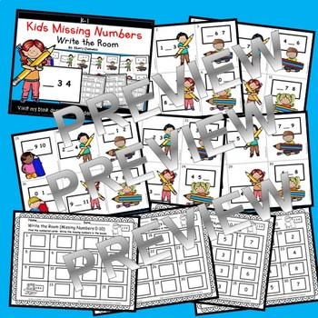 Kids Write the Room (Missing Numbers 0-10)