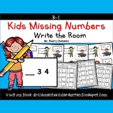 Kids Write the Room (Missing Numbers 0-10)