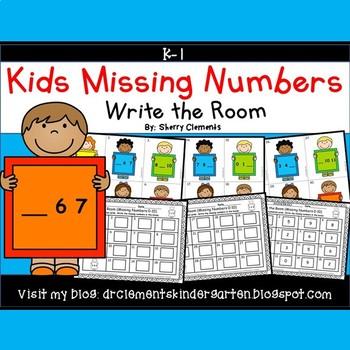 Kids Write the Room (Missing Numbers 0-10) (Set 3)